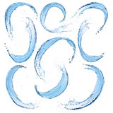 El conjunto de agua salpica Foto de archivo libre de regalías