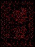 El conjunto de corazón lindo forma en fondo del grunge Fotografía de archivo libre de regalías