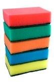 El conjunto de esponjas Foto de archivo