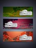 El conjunto de la cabecera/de la bandera abstractas del Web diseña para 2013 Foto de archivo