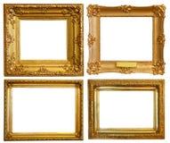 El conjunto de lujo doró marcos Imagen de archivo
