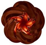 El conjunto de metal marrón brillante stars en el movimiento libre illustration