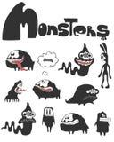 El conjunto de monstruos Imagen de archivo libre de regalías