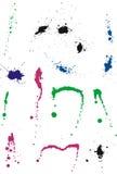 El conjunto de multicolor salpica Fotografía de archivo libre de regalías