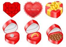 El conjunto del vector de objetos se relacionó con el día de tarjeta del día de San Valentín del santo Fotografía de archivo libre de regalías