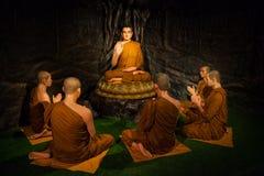 El conocimiento de enseñanza de Buda Imagen de archivo libre de regalías