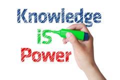 El conocimiento es concepto del poder Fotografía de archivo libre de regalías
