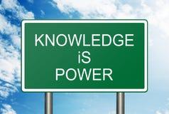 El conocimiento es concepto del poder Foto de archivo