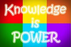 El conocimiento es concepto del poder fotos de archivo libres de regalías