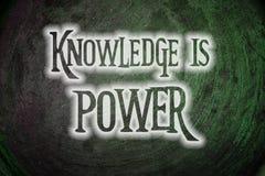 El conocimiento es concepto del poder Imágenes de archivo libres de regalías