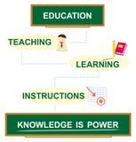 El conocimiento es potencia ilustración del vector