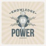 El conocimiento es potencia stock de ilustración