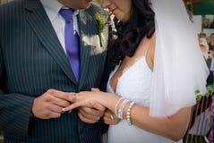El conseguir casado fotografía de archivo