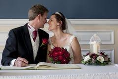 El conseguir casado Imagen de archivo