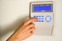 El conseguir listo para fijar la alarma casera Imagen de archivo libre de regalías