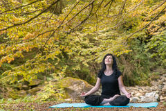 El conseguir listo para la meditación Fotos de archivo libres de regalías
