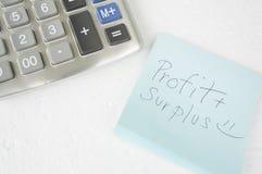 El considerar añade el concepto de sobra del cálculo de la calculadora del número Fotos de archivo