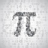 El constante matemático pi ilustración del vector