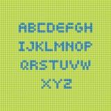 El constructor pone letras a verde y al azul Imagenes de archivo