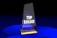El constructor superior Contractor Construction Award redacta el ejemplo 3d Imágenes de archivo libres de regalías