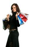 El consumidor feliz Foto de archivo