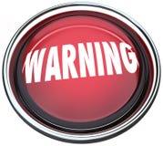 El contellear ligero de la alarma redonda roja amonestadora del botón Imagen de archivo libre de regalías