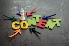 El contenido es rey en concepto de la publicidad online y de la comunicación, imágenes de archivo libres de regalías