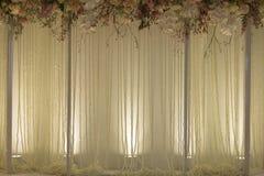 El contexto florece listo para la ceremonia de boda Foto de archivo libre de regalías