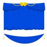 El contexto interior de la entrada del paño de la cortina de las persianas de la escena del teatro de la etapa de la tela del fun Imagen de archivo libre de regalías