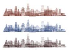 El contorno de la ciudad Puede ser utilizado para las banderas, carteles, anuncio ilustración del vector