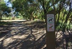 El control de perros firma adentro el parque público fotos de archivo libres de regalías