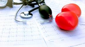 El control de salud del corazón Imagen de archivo