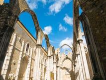 El convento de nuestra se?ora del monte Carmelo, Convento hace a Carmen en Lisboa fotos de archivo