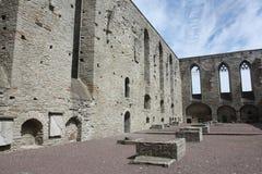 El convento de Pirita arruina (interior) Tallinn Estonia Imagen de archivo
