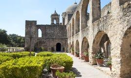 El Convento en la misión San Jose, San Antonio, Tejas, los E.E.U.U. Fotografía de archivo
