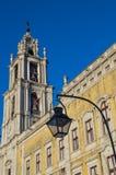 El convento nacional de Royal Palace y del franciscano de Mafra Foto de archivo libre de regalías