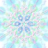 El copo de nieve del ` s del Año Nuevo grabó en relieve rosado-verde convexo stock de ilustración