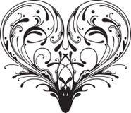 Corazón adornado stock de ilustración