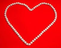 El corazón blanco Imagen de archivo libre de regalías