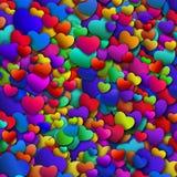 El corazón colorido abstracto forma el fondo Foto de archivo libre de regalías