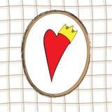 El corazón con la corona Imagenes de archivo