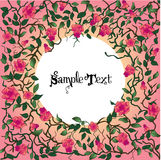 El corazón con las rosas y las espinas con text.jpg Imagen de archivo libre de regalías