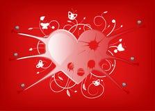 El corazón crucificado stock de ilustración