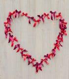 El corazón de cintas Imagen de archivo libre de regalías