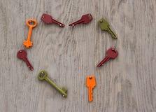 El corazón de claves Imágenes de archivo libres de regalías