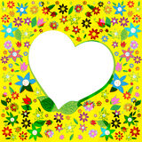 El corazón de Copyspace significa día y el afecto de las tarjetas del día de San Valentín Imagenes de archivo