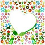 El corazón de Copyspace significa a Valentine Day And Copy-Space Imagen de archivo libre de regalías