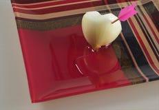 El corazón de la cebolla Imagen de archivo libre de regalías