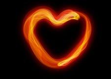 El corazón de la combustión Foto de archivo libre de regalías