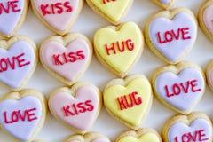 El corazón de la conversación adornó las galletas Foto de archivo libre de regalías